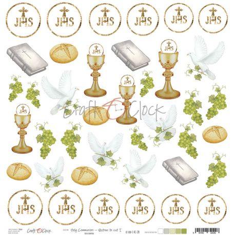 Craft O'Clock Holy Communion - Hoja de recortables 1