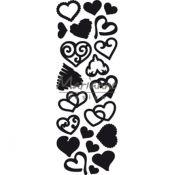 Troquel metálico corte Craftables Marianne Design - Corazones fantasía (CR1460)