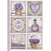 Stamperia Papel de Arroz para decoupage Provence Cards (DFSA4366)