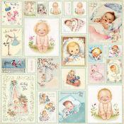 Craft & You - Hoja de recortables New Baby Born (CP-NBB07)