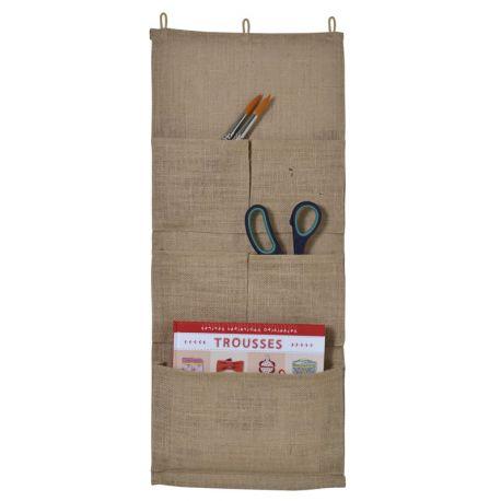 Artemio – Organizador de pared con compartimentos en yute(13002107)