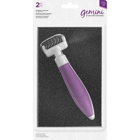 Crafter's Companion - Set de cepillo y base de gomaespuma para limpieza de troqueles