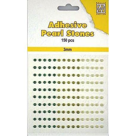 Nellie Snellen – Perlas adhesivas tonos verdes para scrapbooking