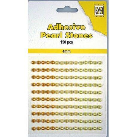 Nellie Snellen – Perlas adhesivas tonos amarillos para scrapbooking