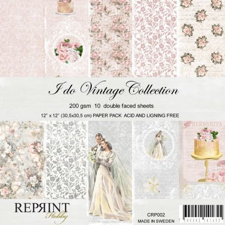 Reprint- Set de cartulinas para scrapbooking I Do (CRP002)