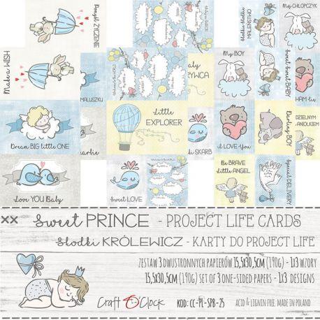 Craft O'Clock Sweet Prince – Tarjetas Project Life