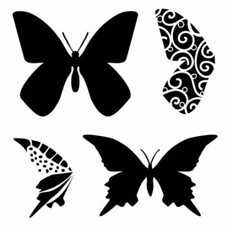 Template 12x12 - Layered Butterflies