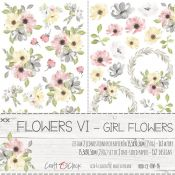Craft O'Clock -Girl Flowers Recortables