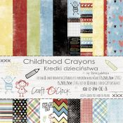 Craft O'Clock - Papel para scrapbooking Chilhood Crayons de 15x15