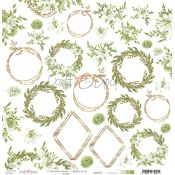 Craft O'Clock Greenery Charm - Hoja de recortables