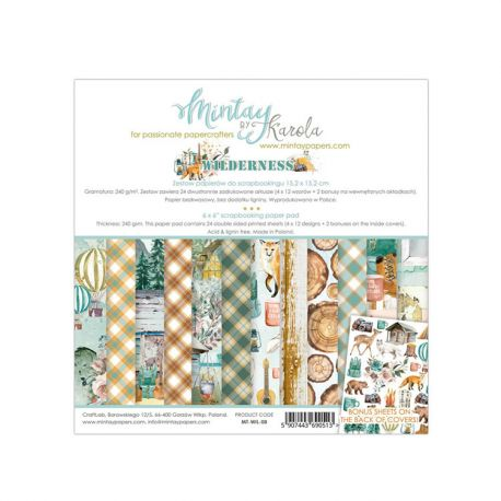 Mintay Papers - Wilderness Scrapbooking Paper Pad 15x15 | CreActividades