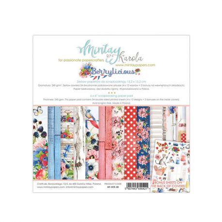 Mintay Papers - Berrylicious Scrapbooking Paper Pad 15x15 | CreActividades