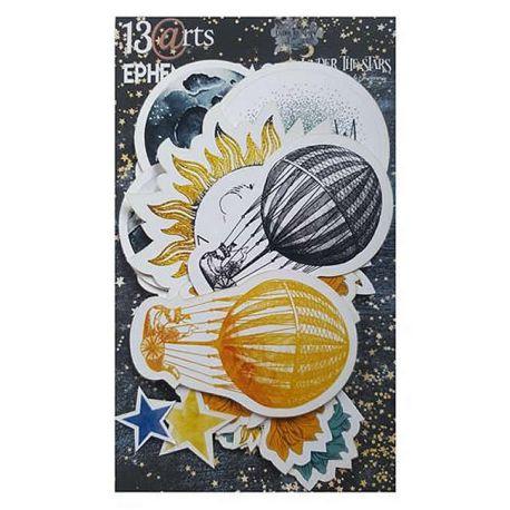 13 Arts - Under The Stars Ephemera: troquelados de cartulina