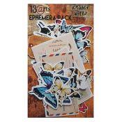 13 Arts - Grungy Walls Ephemera: troquelados de cartulina