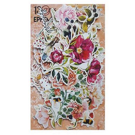 13 Arts - In Bloom Ephemera: troquelados de cartulina
