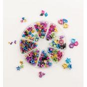 Set de ojales colores y tamaños surtidos