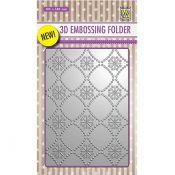 Nellie's Choice 3D Embossing Folder Flowers 2