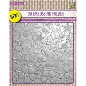 Nellie's Choice 3D Embossing Folder Flowers 3