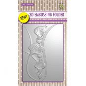 Nellie's Choice 3D Embossing Folder Arums