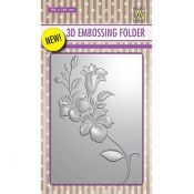 Nellie's Choice 3D Embossing Folder Branch with flowers
