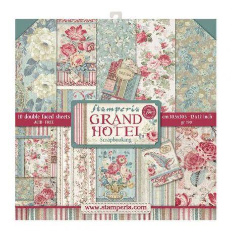 Stamperia Papeles estampados para scrapbooking colección Grand Hotel (SBBL57)