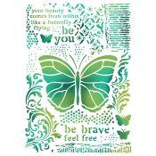 Stamperia - Stencil decorativo en acetato Butterflies (KSG392)
