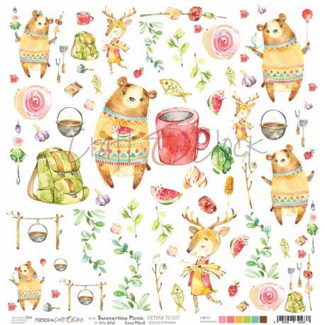 Craft O'Clock Summertime Picnic - Hoja de recortables