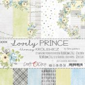 Craft O'Clock - Papel para scrapbooking Lovely Prince Set de 30x30