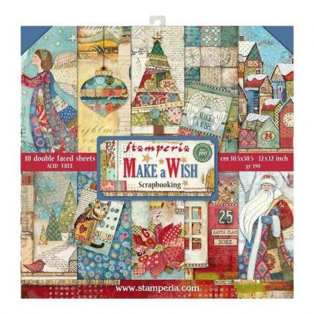 Stamperia Papeles estampados para scrapbooking colección Make a Wish