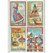 Stamperia Papel de Arroz para decoupage Make a Wish Postcards