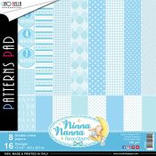 Papeles Ciao Bella - Ninna Nanna Fiocco Azul Patterns (CBT019)