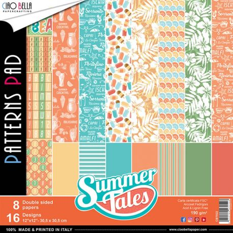 Papeles Ciao Bella - Summer Tales Patterns (CBT022)