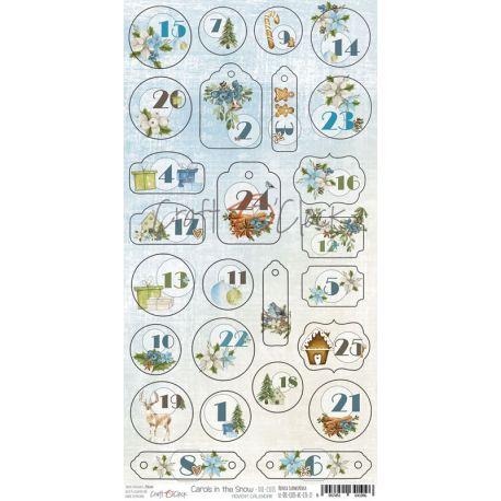 Craft O'Clock Carols in the Snow - Troquelados Calendario del Adviento