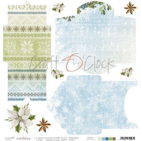 Craft O'Clock Carols in the Snow – Sobres para recortar