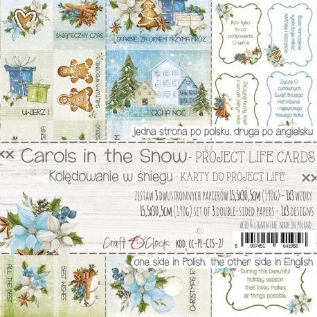 Craft O'Clock Carols in the Snow – Tarjetas Project Life