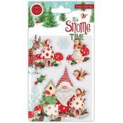 Craft Consortium | Set de sellos acrílicos It's Snome Time – Robin Mischief