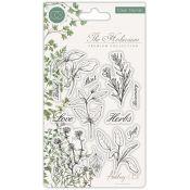 Craft Consortium | Set de sellos acrílicosThe Herbarium – Herbs