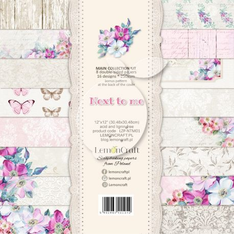 LemonCraft - Set de cartulinas para scrapbooking Next to Me 30x30 (LZP-NTM01)