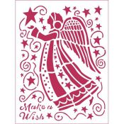 Stamperia - Stencil decorativo en acetato Make a Wish Angel (KSD305)