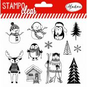 Sellos acrílicos Aladine Stampo Clear Christmas Characters