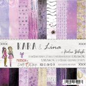 Craft O'Clock - Papel para scrapbooking Kara & Lina de 15x15cm