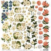 Craft O'Clock Wild Garden - Hoja de recortables Flores