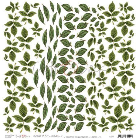 Wild Garden - Hoja de recortables Hojas