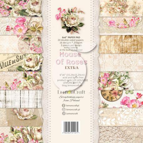 LemonCraft - Set de cartulinas para scrapbooking House of Roses Extra 15x15 (LZP-HOUSE02)