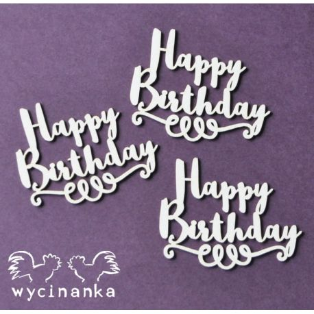 Laser Cut - Happy Birthday