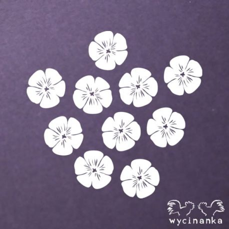 Laser Cut - Flores de lino