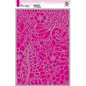 Stencil Swirl Flora