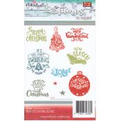 Sellos Merry little Christmas Greetings