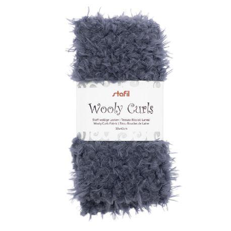 Tejido Wooly Curls Gris Azulado
