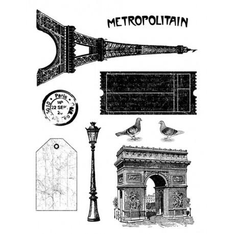 Artemio Sellos acrílicos de silicona transparente Paris Vintage (10001172)